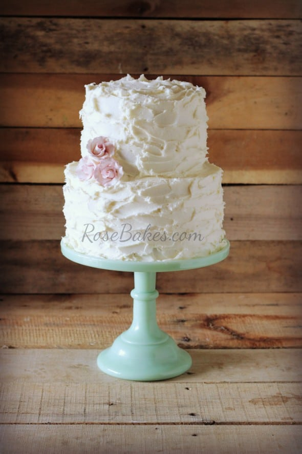 Messy Buttercream with Pink Roses