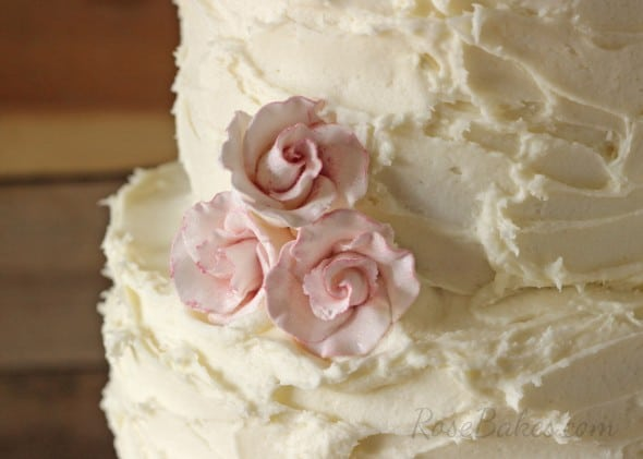 Roses on Rustic Buttercream