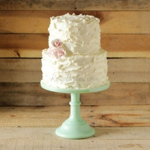 Rustic Buttercream with Pink Roses