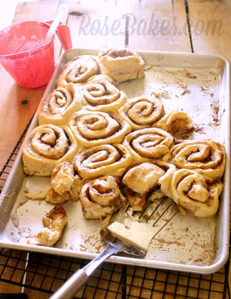 Cinnamon Rolls on a Pan
