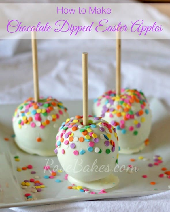 How to Make Chocolate Dipped Easter Apples