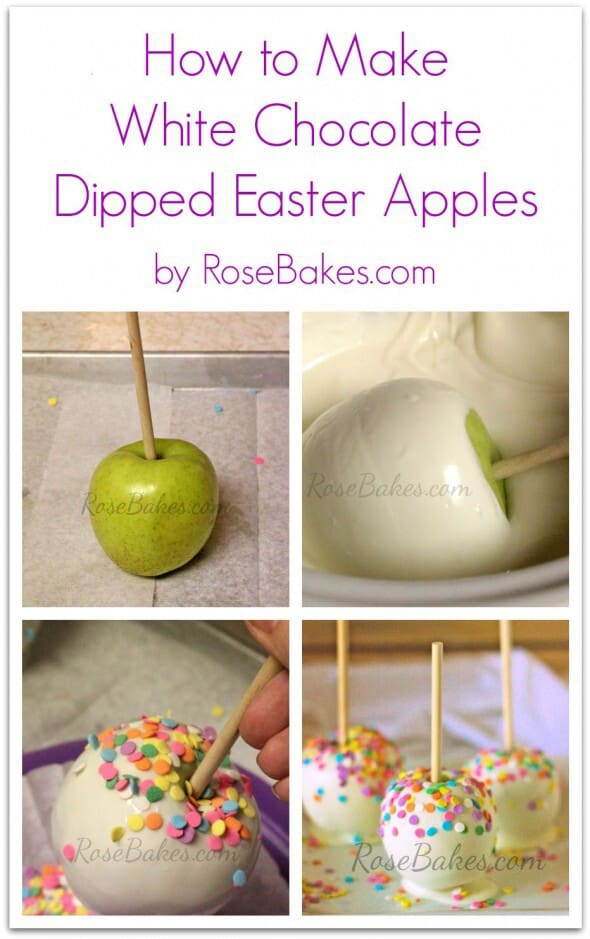 How to Make White Chocolate Dipped Easter Apples
