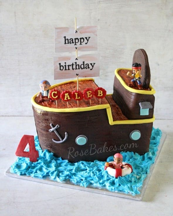 Images Of Jake And The Neverland Pirates Birthday Cake