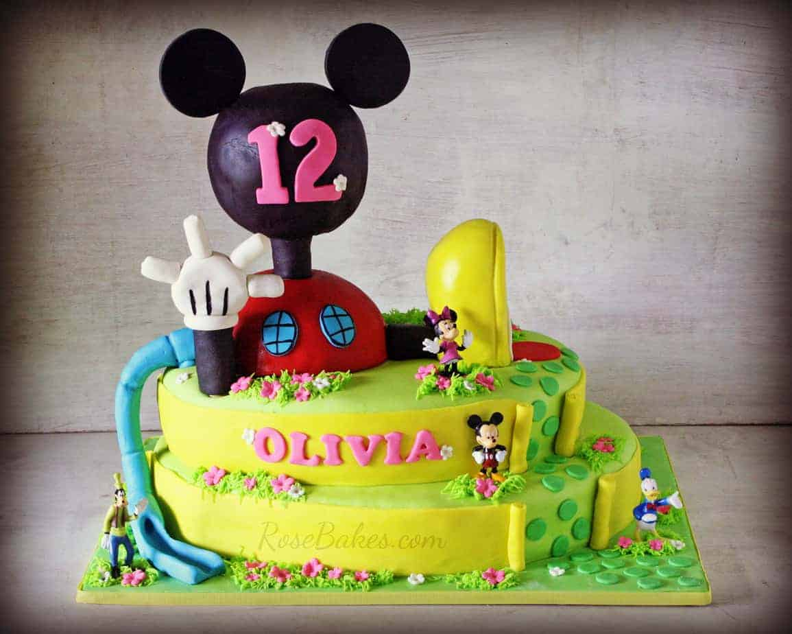 mickey mouse clubhouse cake mickey mouse clubhouse cake and icing smiles bakes 5883