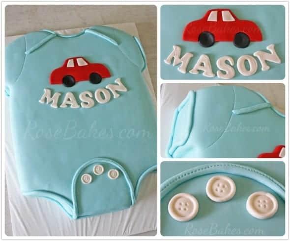 Baby Onesie Baby Shower Cake Rose Bakes