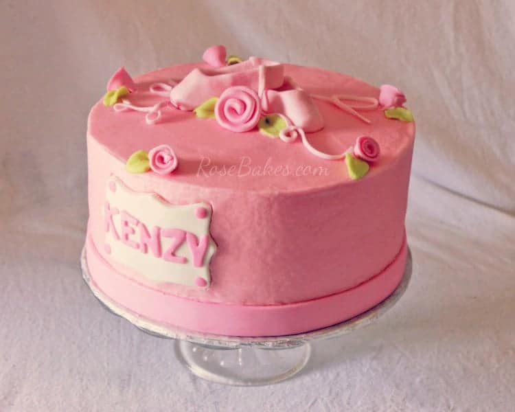 Pink Ballet and Roses Cake