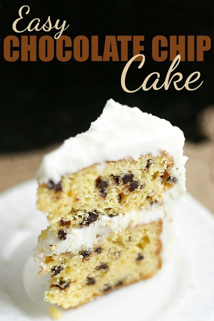 slice of Easy Chocolate Chip Cake recipe