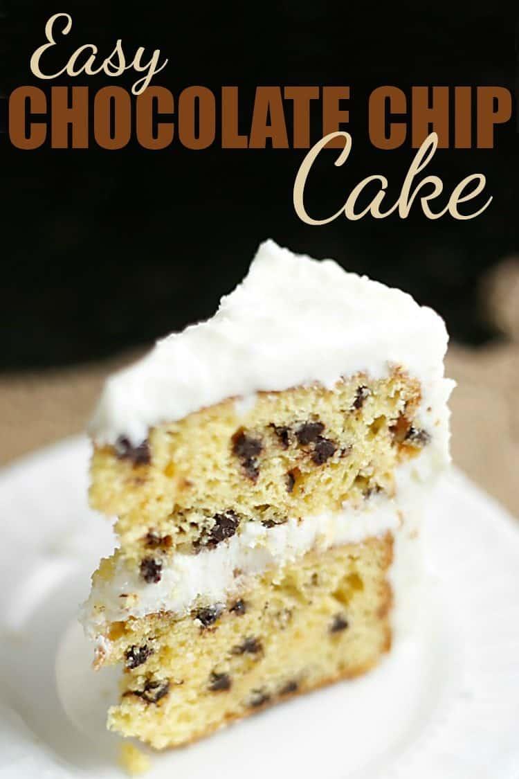Easy Chocolate Chip Cake Recipe Rose Bakes