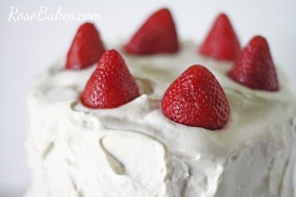 Strawberries on Cake