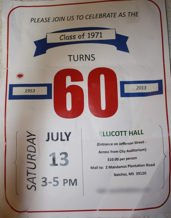 60th Birthday Class Reunion Invitation