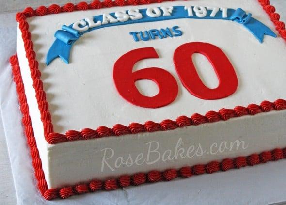 60th Class Reunion Cake