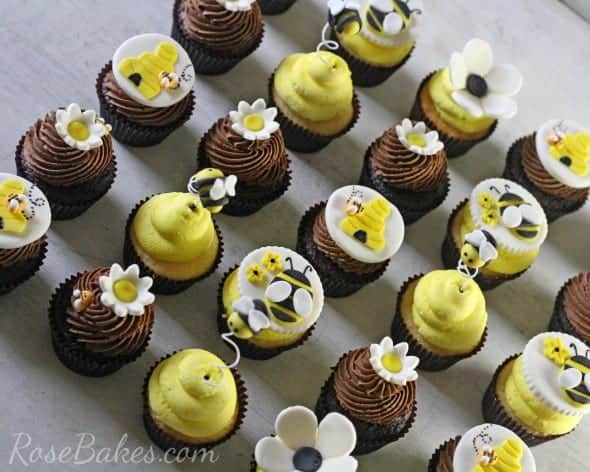 Quot What Will Baby Bee Quot Gender Reveal Party Cupcakes Rose