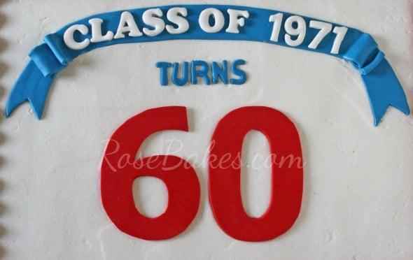 Class Reunion Cake top