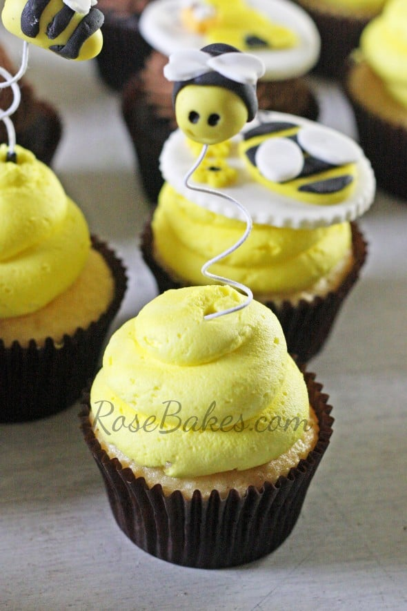 Flying Bee Cupcake Toppers