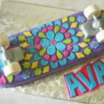 Girly Skateboard Cake 01