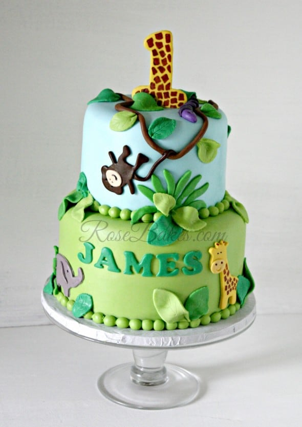 Jungle Theme Cake with Watermark