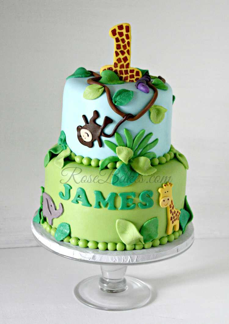 Jungle Theme Cake with Watermark