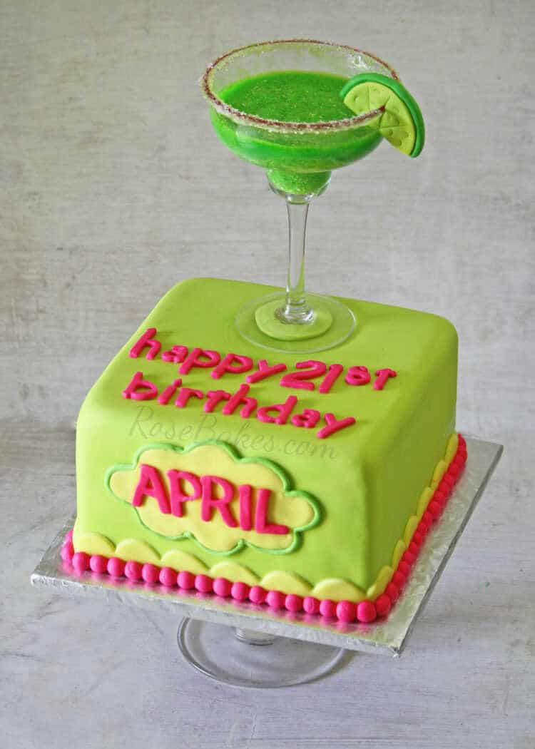 Margarita Themed Birthday Cake
