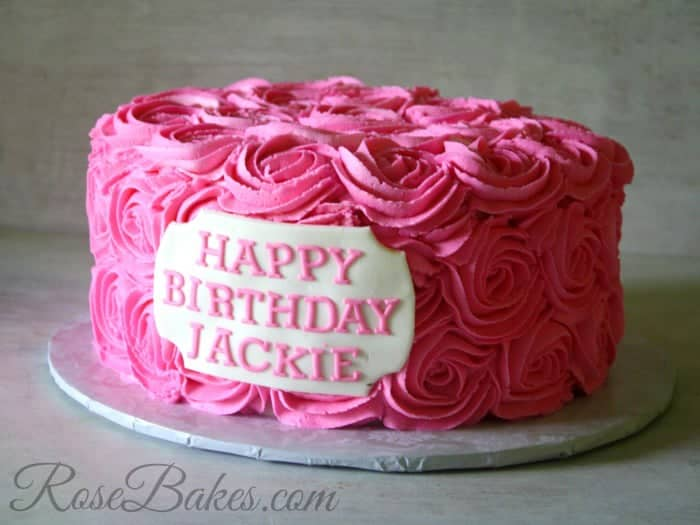 Images Of Birthday Cake And Roses : Pink Buttercream Roses Birthday Cake - Rose Bakes