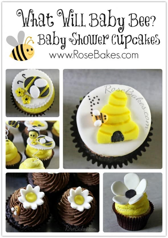 What Will Baby Bee Baby Shower Cupcakes