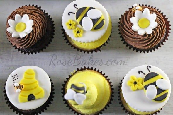 What Will It Bee Cupcake Toppers
