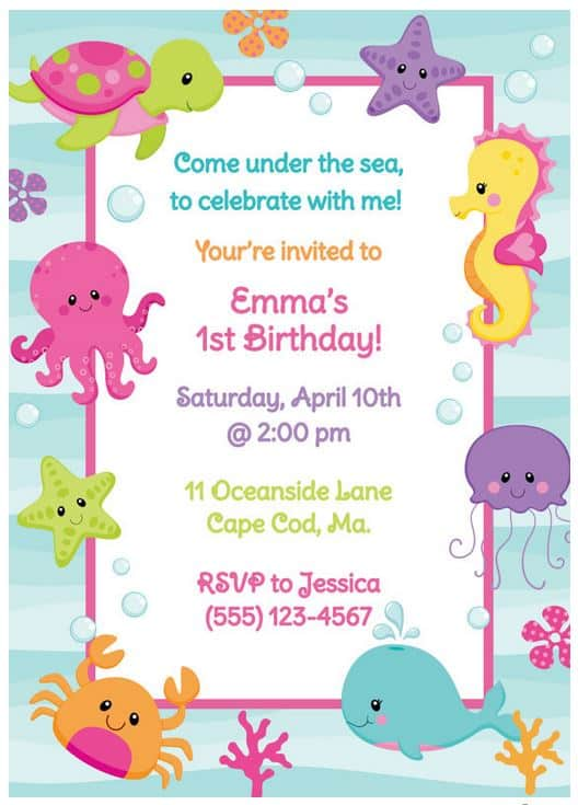 Cristin Britt Invite Under the Sea