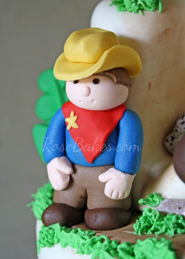Fondant Sheriff Cowboys and Indians Cake