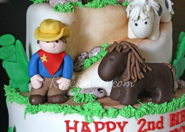 Fondant Sheriff and Horse