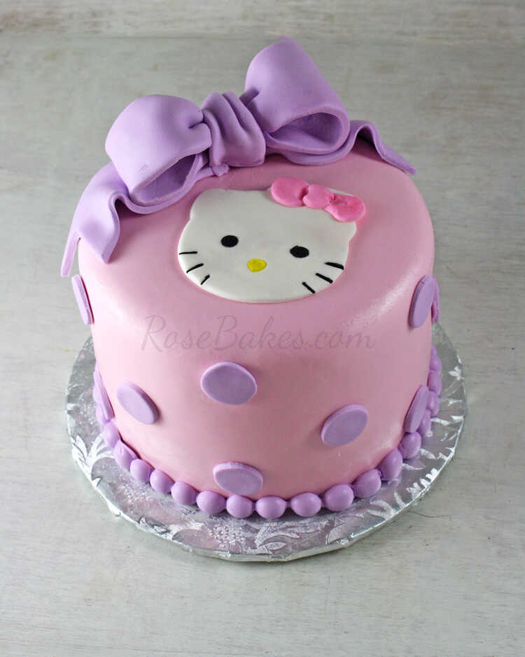 Images Of A Hello Kitty Cake : Hello Kitty Cake, Cupcakes & Candy Apples - Rose Bakes