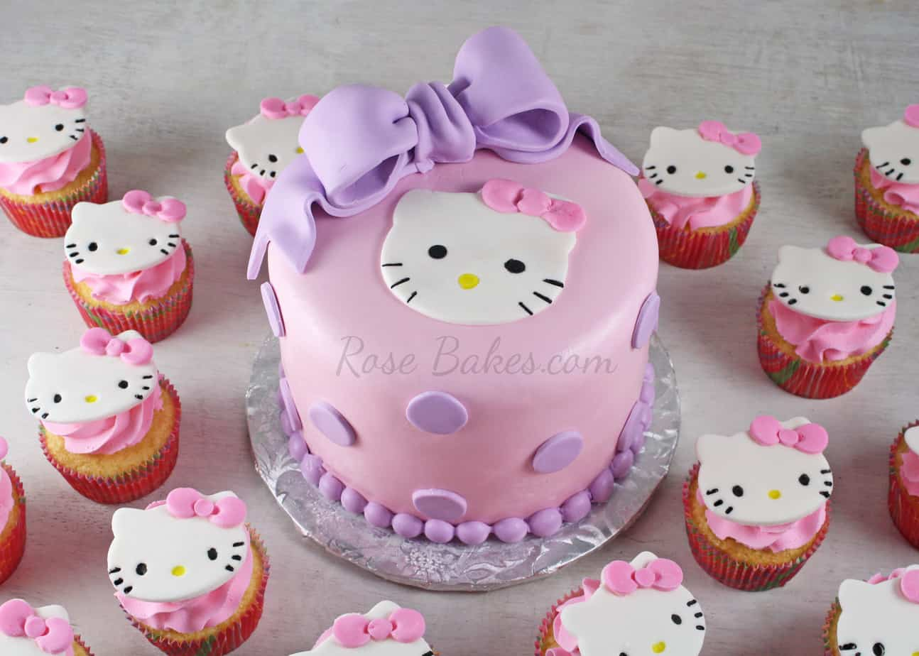 Hot Pink Hello Kitty Cake Rose Bakes
