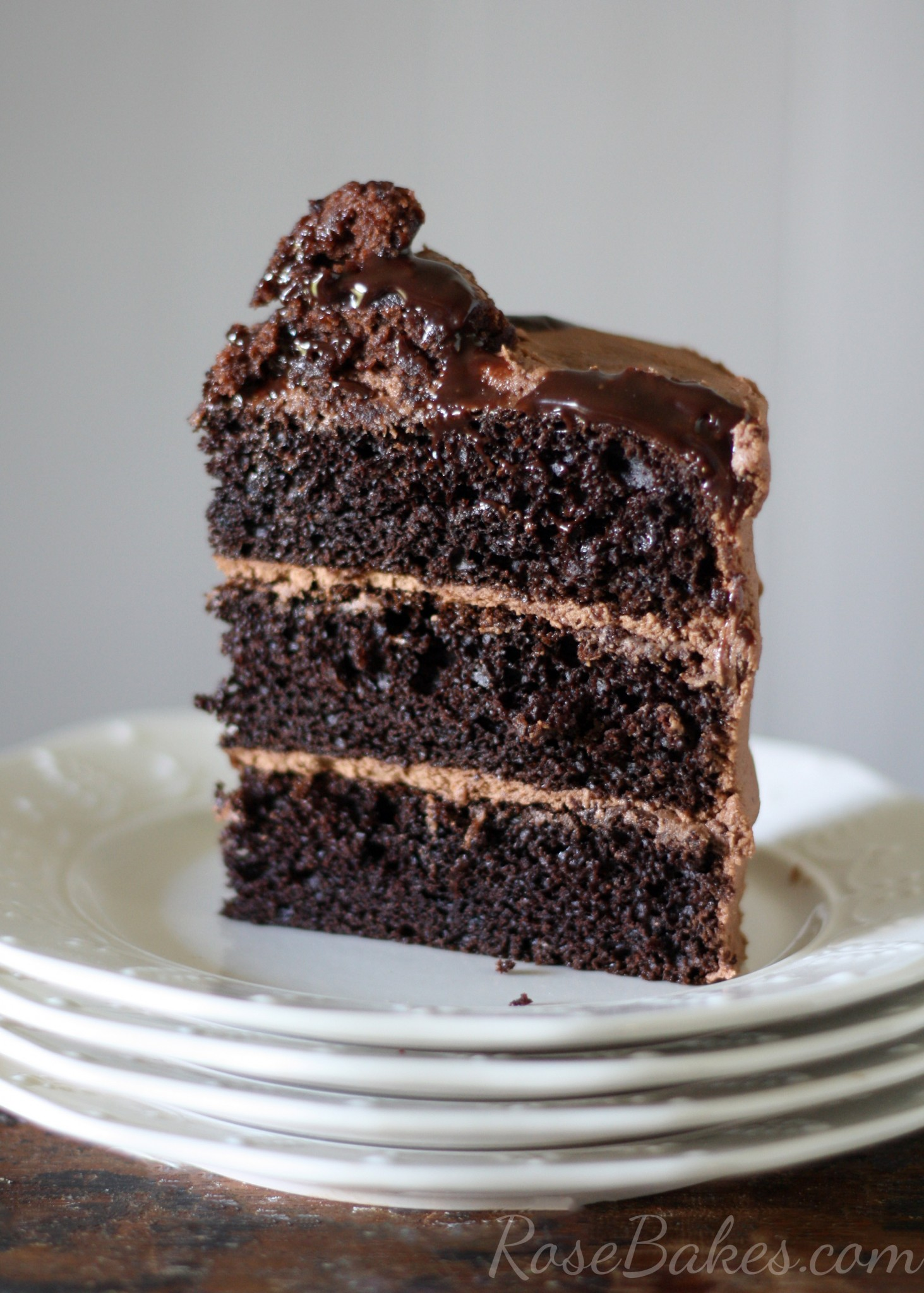 One bowl chocolate cake from scratch rose bakes for Easy basic cake recipes from scratch
