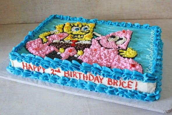 Spongebob Squarepants and Patrick Cake