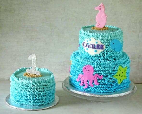 Under the Sea Buttercream Ruffles Cake