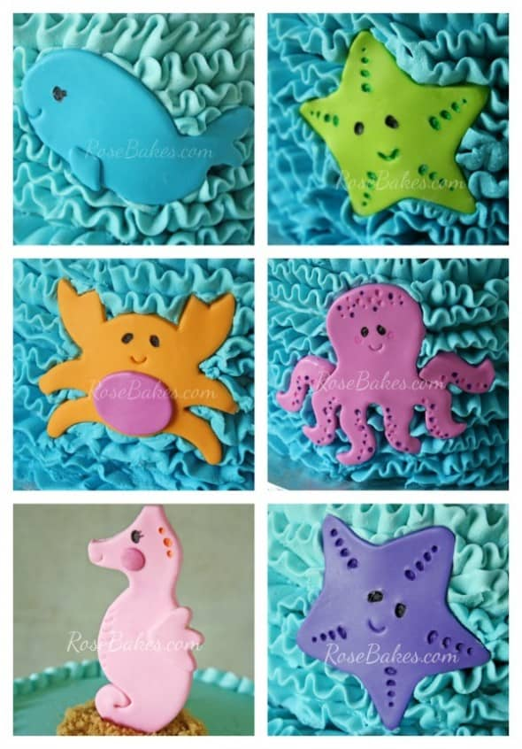 Under the Sea Cake Characters