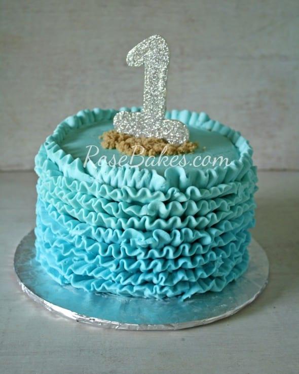 Buttercream Ruffles Under The Sea Cake Amp Smash Cake Rose
