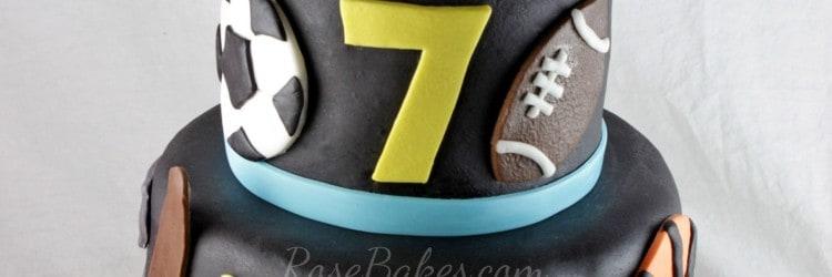 Black All Sports Cake