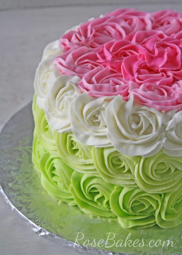 Fading Roses Cake