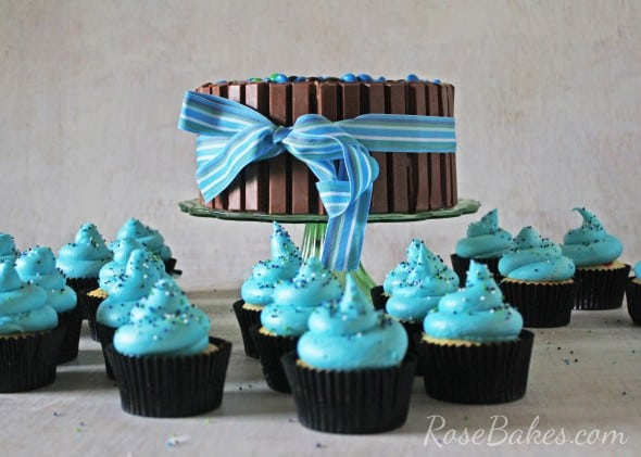 KitKat Candy Cake and Cupcakes