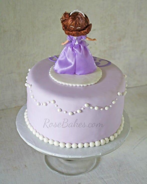 Sofia the 1st Cake back