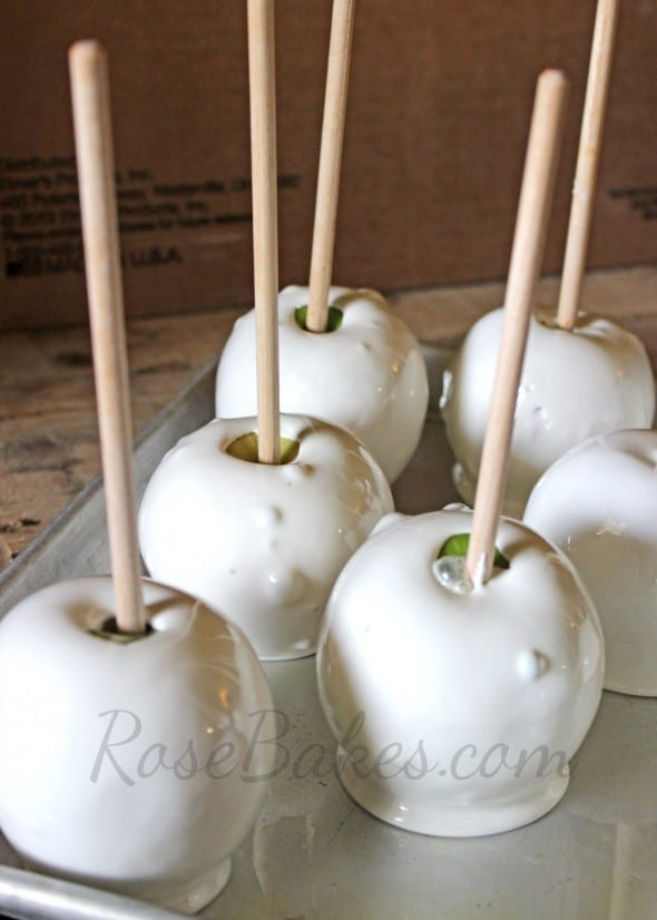 How To Make Silver Gold Shimmery Candy Apples Rose Bakes