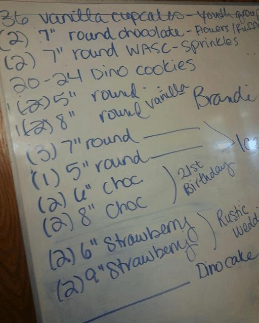 Cake Schedule
