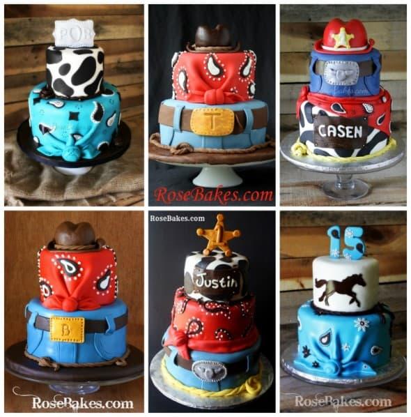 Cowboy Bandana Cakes