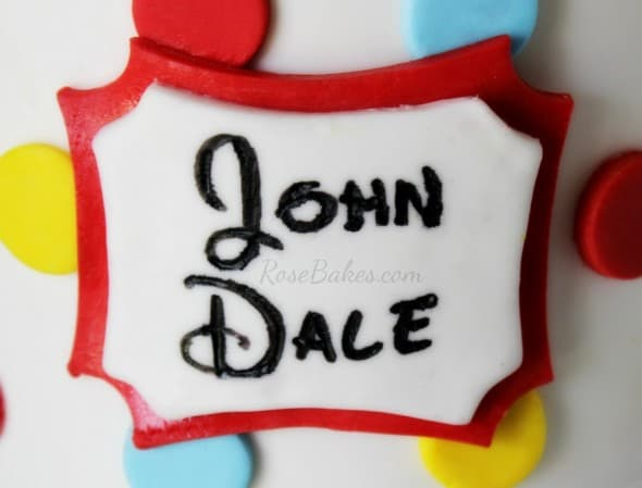 Disney Font on Cake