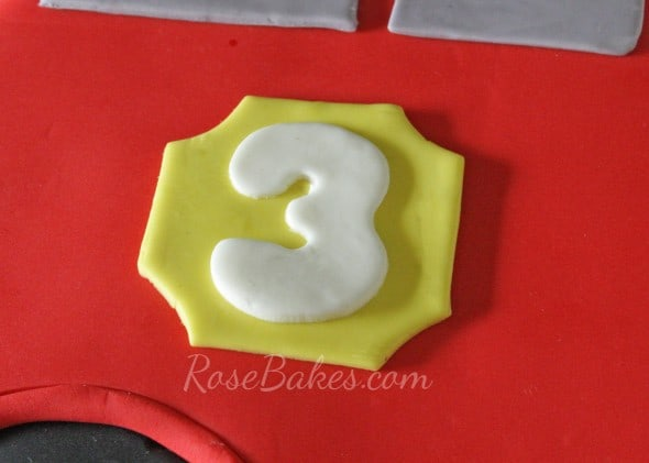 Firetruck Cake Number