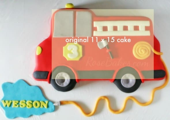 how to make a fondant fire truck