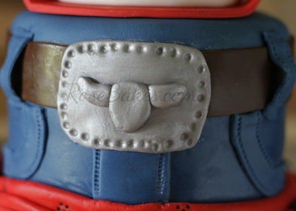Fondant Blue Jeans Belt Buckle