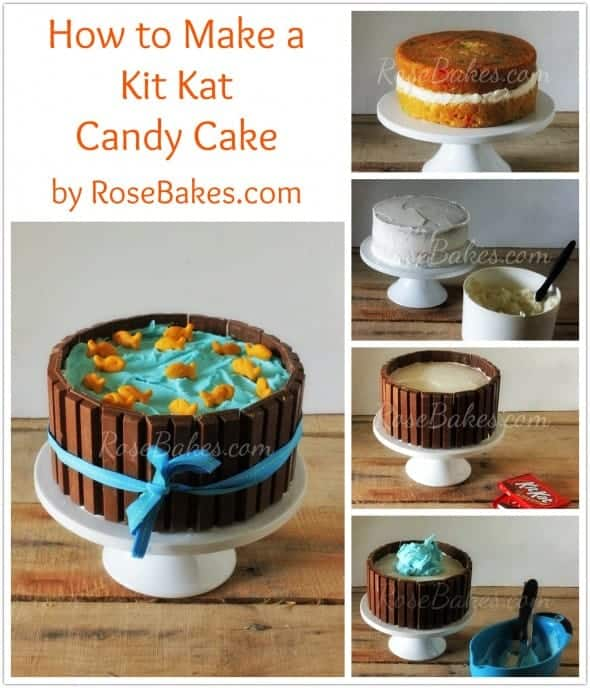 How to Make a Kit Kat Candy Cake Tutorial