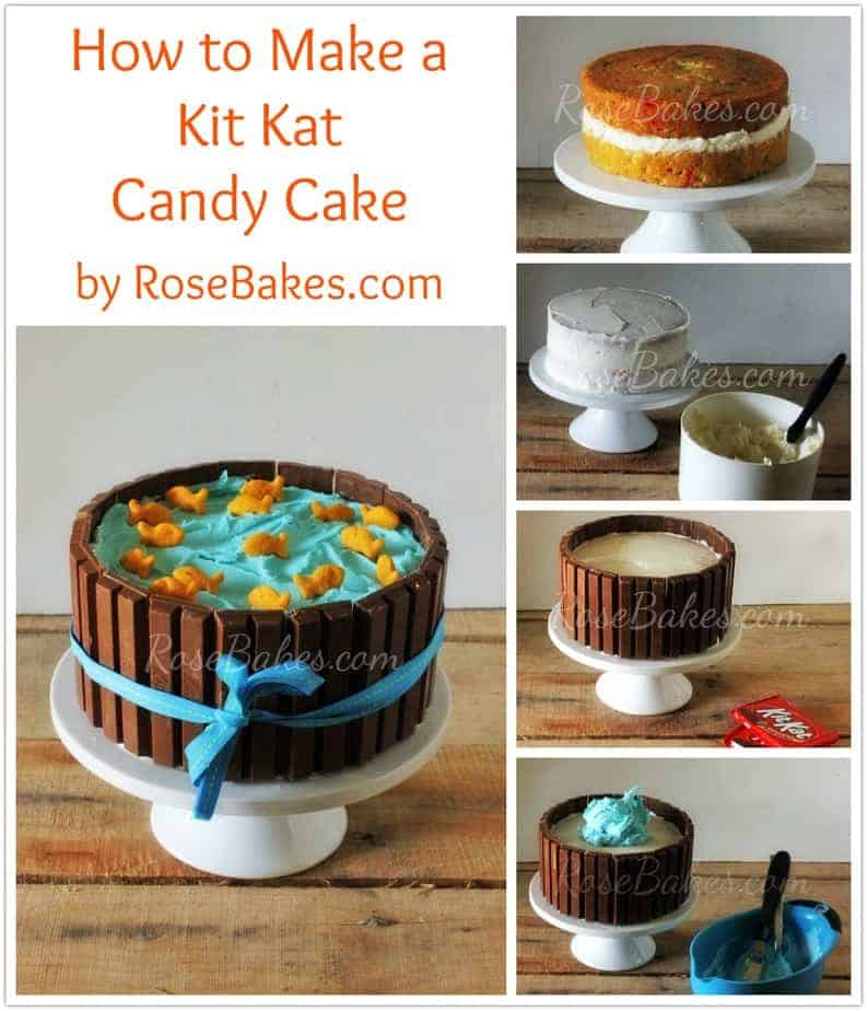 How to Make a Kit Kat Candy Cake - Rose Bakes
