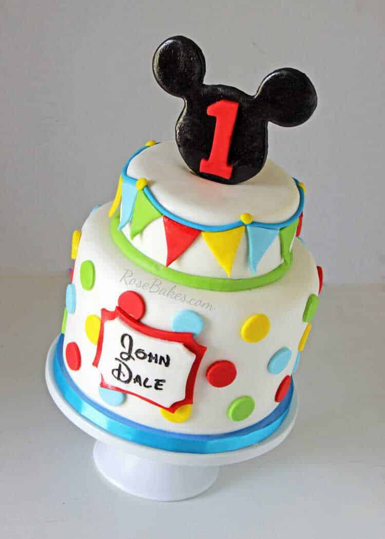 Cake Images Of Mickey Mouse : Mickey Mouse Cake Ideas - Rose Bakes