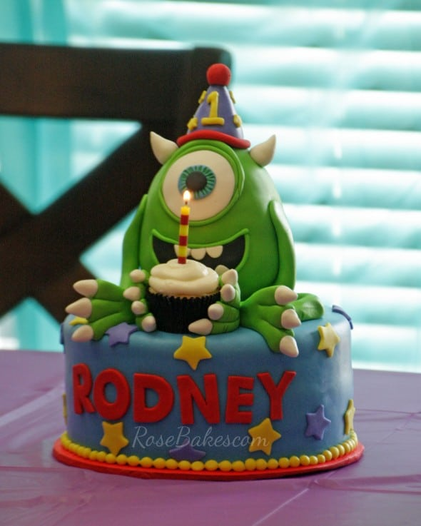 Mike Wazowski Cake with Candle